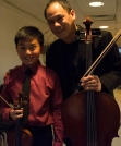 Alex Zhou, 12, with Bion Tsang