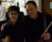 Rennosuke Fukuda, 14, with Bion Tsang