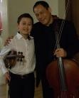 Daniel Lozakovitj, 12, with Bion Tsang