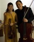 Elvina Sung-Eun Auh, 14, with Bion Tsang