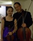 Jaewon Wee, 14, with Bion Tsang